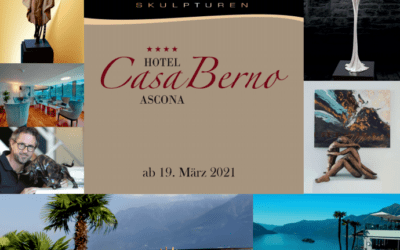 Skulpturen-Ausstellung im Hotel Casa Berno, Ascona