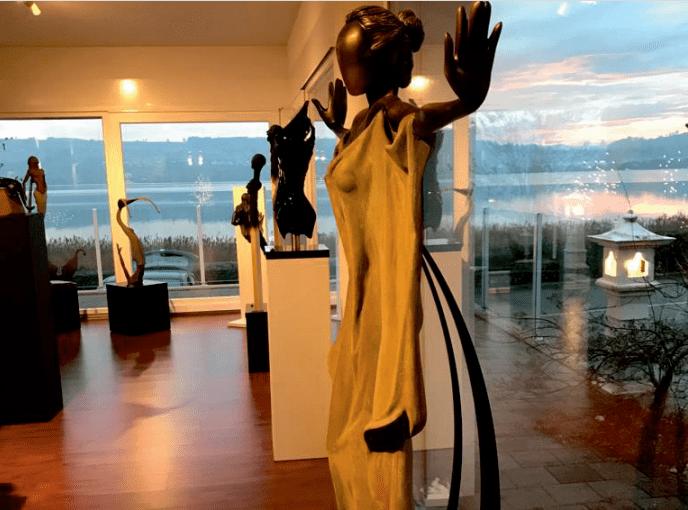 Skulpturen-ausstellung Kajzen, eich